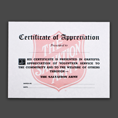 certificate of appreciation with shield pack 10
